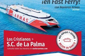 La Palma tendrá doble servicio diario de Naviera Armas a partir del 15 de julio