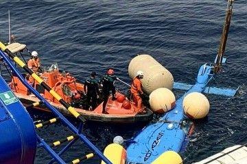 Operativo de rescate del helicóptero accidentado