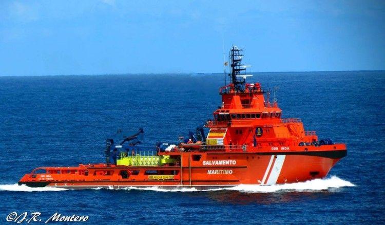 """El buque de salvamento """"Don Inda"""""""