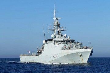 """El patrullero oceánico """"HMS Trent"""", a su llegada esta mañana a Cartagena"""