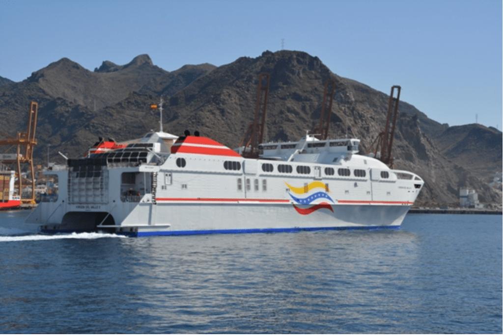 """Se trata del """"Euroferrys Pacífica"""", en servicio desde mayo de 2001"""
