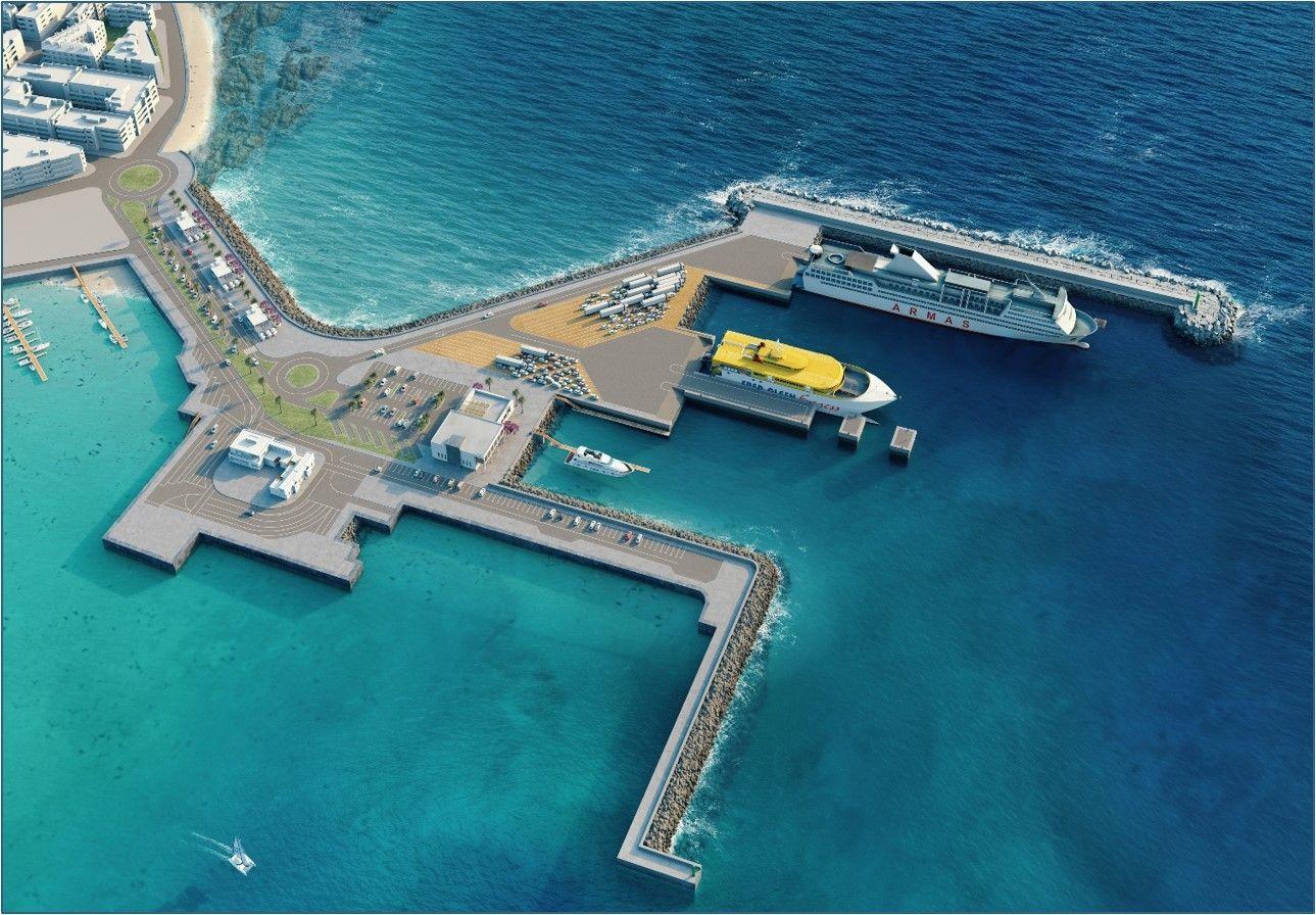 El puerto de Corralejo esta situado en el norte de Fuerteventura