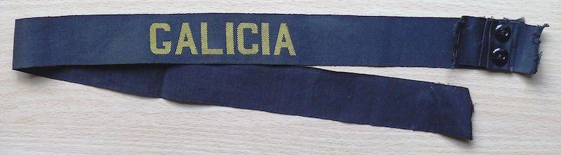 """Cinta de lepanto del crucero """"Galicia"""""""