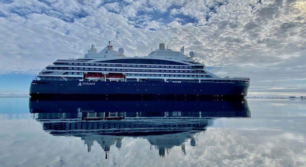 "Estampa marinera del nuevo buque ""Le Commandat Charcot"""