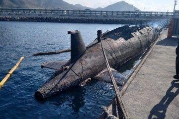 """Estado general en el que se encuentra el desguace del submarino """"Siroco"""""""